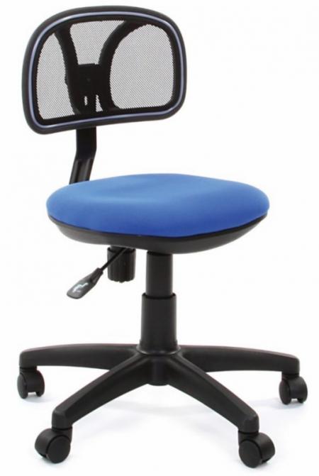 Кресло офисное CHAIRMAN 250 черная сетка сиденье синее C-17
