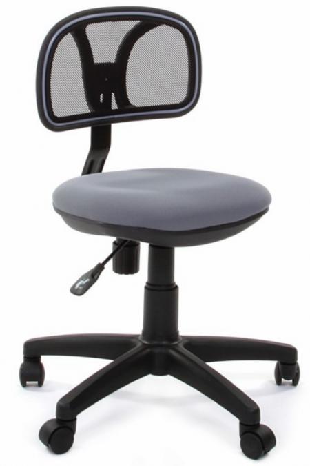 Кресло офисное CHAIRMAN 250 черная сетка сиденье серое C-2