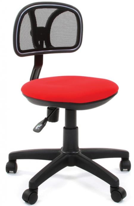 Кресло офисное CHAIRMAN 250 черная сетка сиденье красное C-02