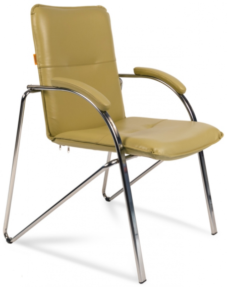 Кресло посетителя CH-850 экокожа фисташковая, Chairman 850