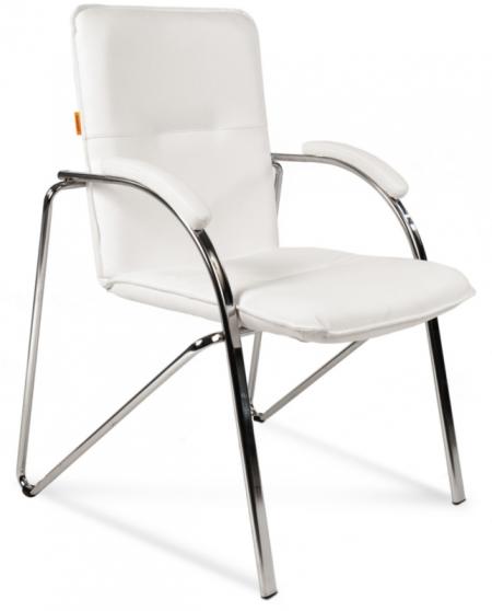 Кресло посетителя CH-850 экокожа белая, Chairman 850