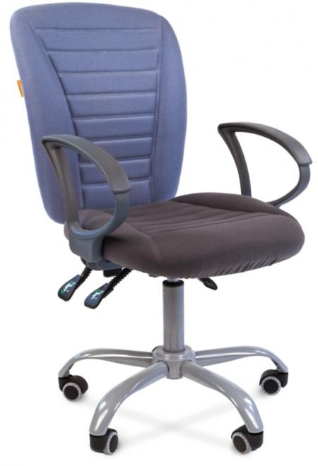 Кресло офисное CHAIRMAN 9801 Эрго сиденье серое спинка голубая