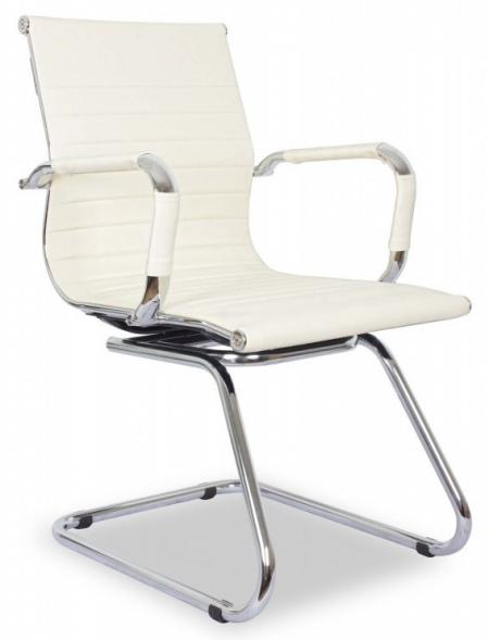 Кресло посетителя College XH-632AV иск. кожа бежевая