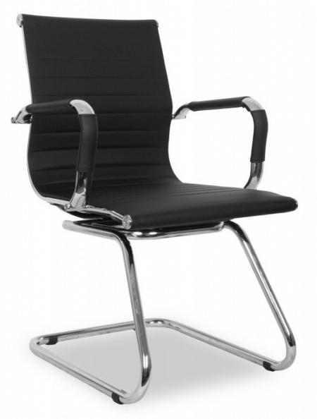 Кресло посетителя College XH-632AV иск. кожа черная