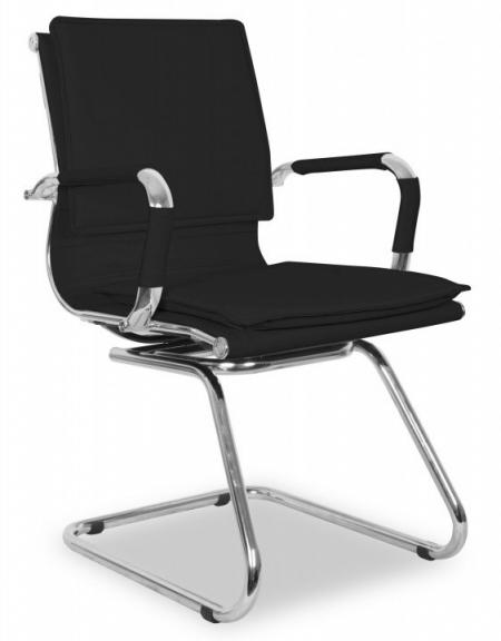 Кресло посетителя College XH-635AV иск. кожа черная