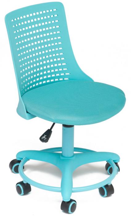 Кресло детское Kiddy Кидди бирюзовая ткань и пластик