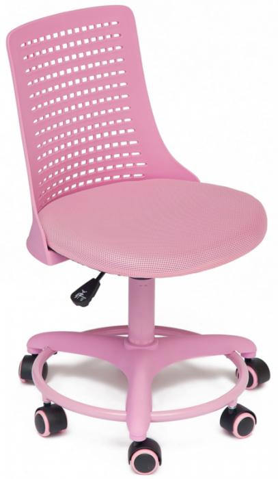 Кресло детское Kiddy Кидди розовая ткань и пластик