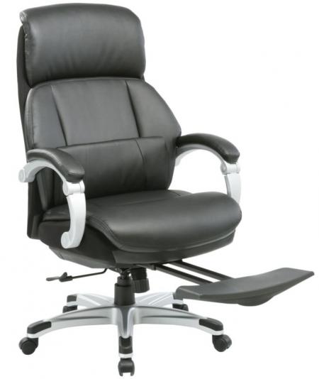 Кресло руководителя MIRO Миро черная кожа