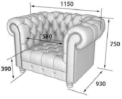 Кресло для отдыха Альфа-Честер искусственная кожа