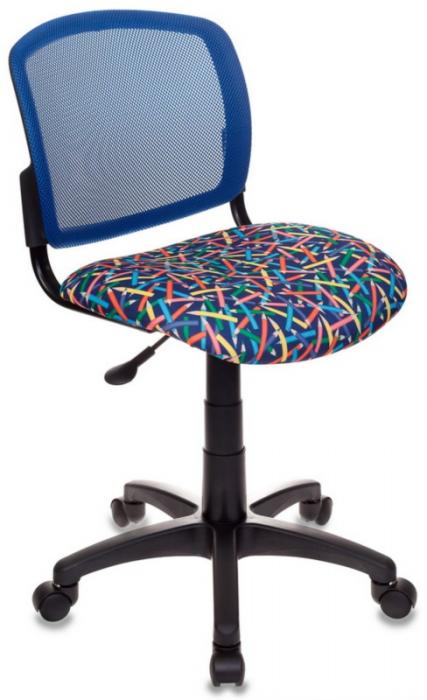 Кресло офисное CH-296 спинка сетка, сиденье ткань синий карандаши
