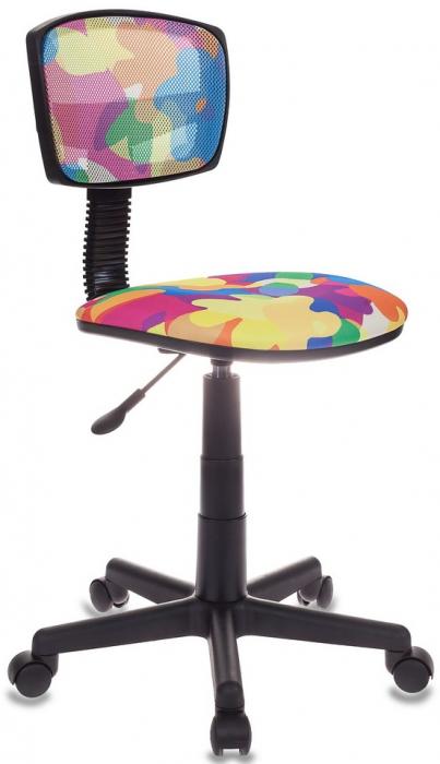 Кресло офисное CH-299 спинка сетка ткань мультиколор абстракция