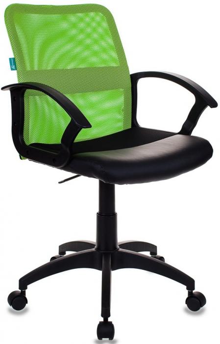 Кресло офисное CH-590 салатовая сетка, сиденье ткань +иск.кожа черная