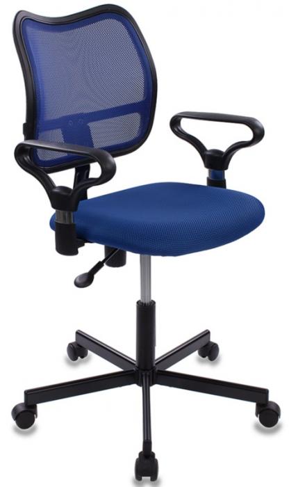 Кресло офисное CH-799M крестовина металл синяя сетка и сиденье