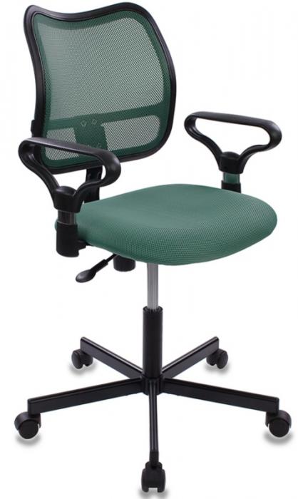 Кресло офисное CH-799M крестовина металл зеленая сетка и сиденье