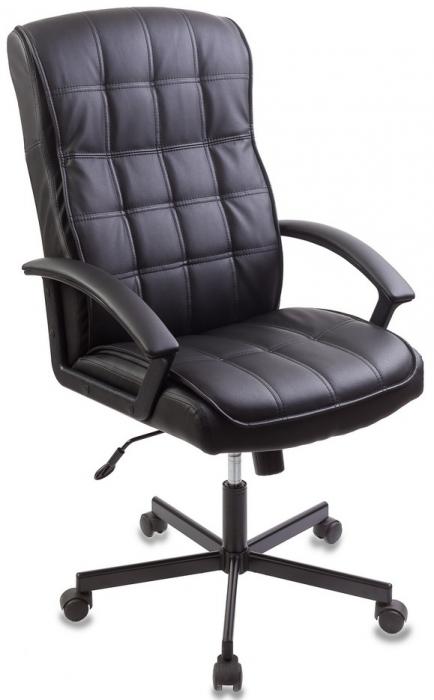 Кресло руководителя CH-823AXSN черная экокожа