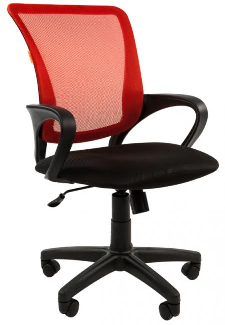 Кресло офисное CHAIRMAN 969 красная сетка