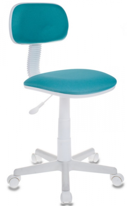 Кресло офисное CH-W201NX ткань бирюзовая пластик белый