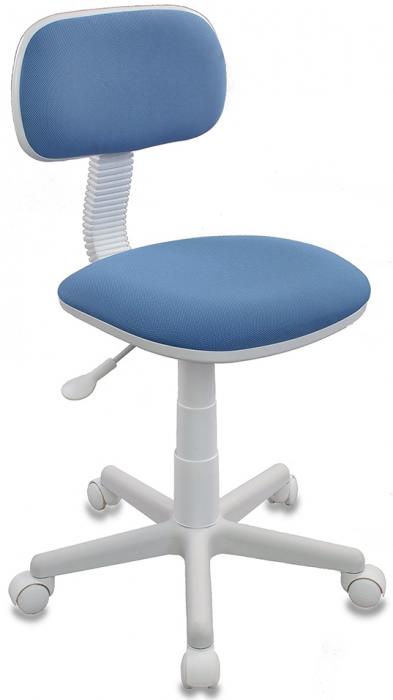 Кресло офисное CH-W201NX ткань голубая пластик белый