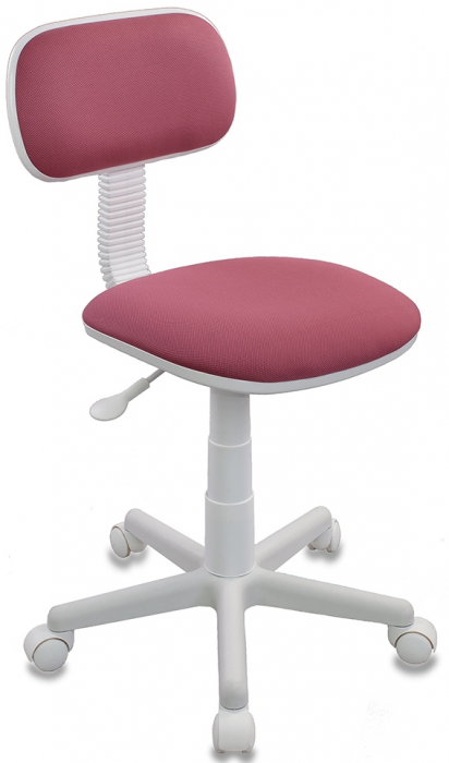Кресло офисное CH-W201NX ткань розовая пластик белый