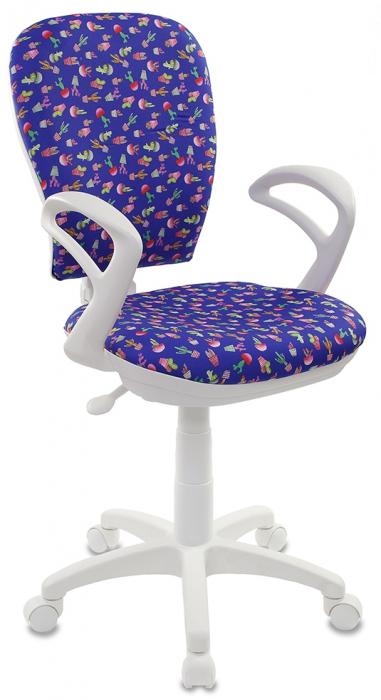 Кресло офисное CH-W513AXN ткань синий кактусы