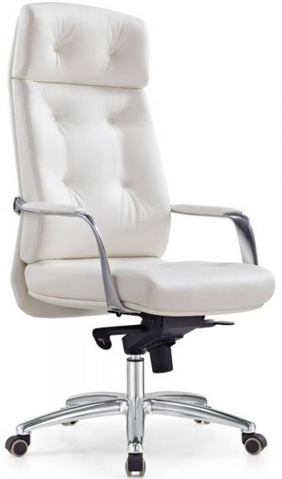 Кресло руководителя DAO ДАО белая кожа