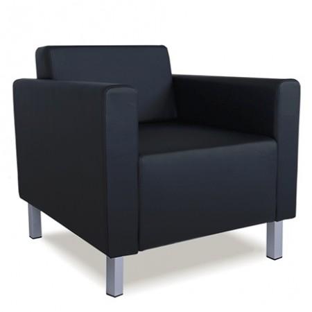 Кресло для отдыха Euro Евро экокожа черная