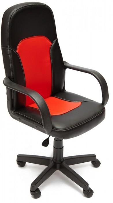Кресло PARMA Парма черная экокожа вставка красная