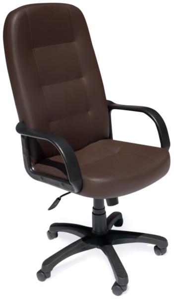 Кресло руководителя DEVON Девон экокожа коричневый