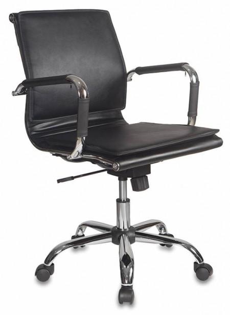 Кресло офисное CH-993-Low черная экокожа, низкая спинка