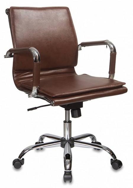 Кресло офисное CH-993-Low коричневая экокожа, низкая спинка