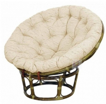 Кресло из ротанга Papasan Папасан цвет олива + подушка