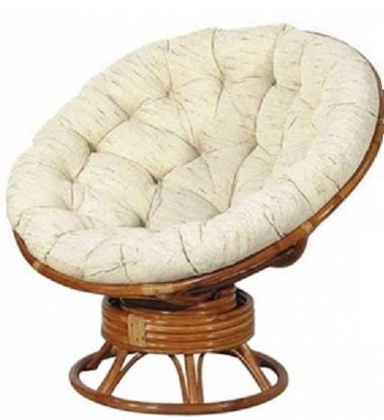 TetChair Кресло-качалка из ротанга Papasan Папасан цвет коньяк + подушка