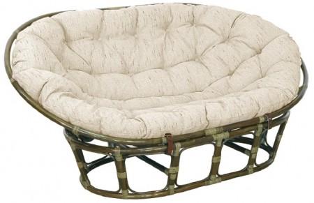 Кресло-диван из ротанга Mamasan Мамасан цвет олива + подушка