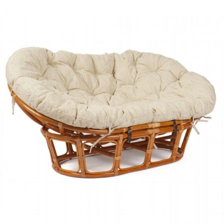 Кресло-диван из ротанга Mamasan Мамасан цвет коньк + подушка