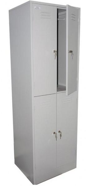 Шкаф для одежды металлический ШРМ-24, 4 отделения