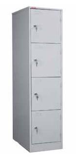 Шкаф для одежды металлический ШРМ-14 сумочница на 4 секции