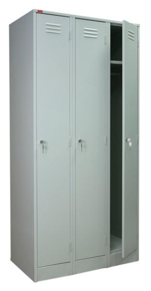 Шкаф для одежды металлический ШРМ-33 трехсекционный