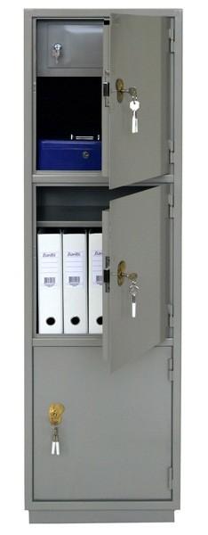 Шкаф бухгалтерский КБ-033Т с трейзером, 3 отделения