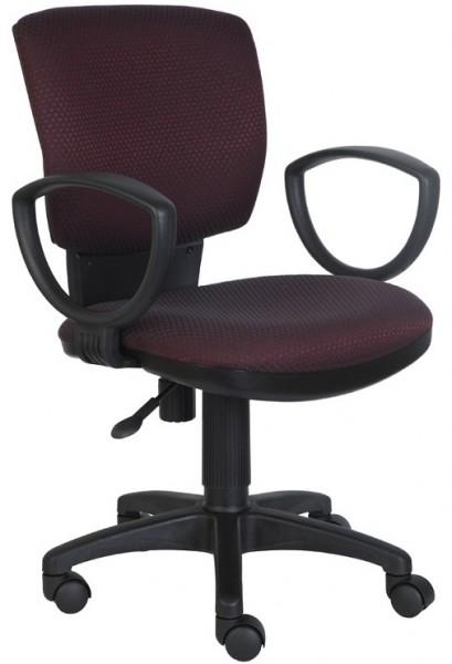 Кресло офисное CH-626AXSN ткань бордово-черная V-02