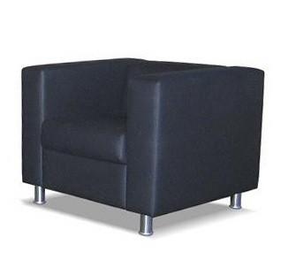 Кресло для отдыха Аполло экокожа черная Terra 118