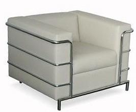 Кресло для отдыха Аполло Люкс хромированный каркас, экокожа черная Terra 118