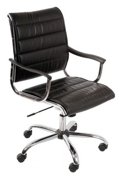 Кресло офисное CH-994AXSN черная экокожа