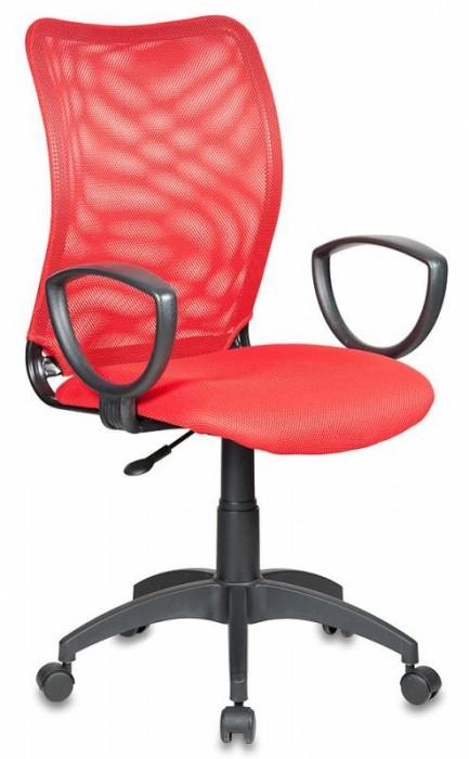 Кресло офисное CH-599 Спинка красная сетка, сиденье красное
