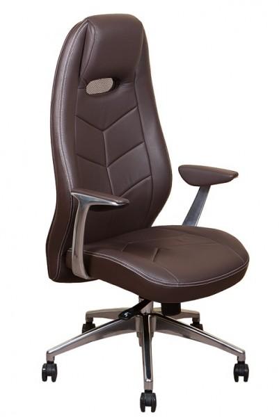 Кресло руководителя Zen коричневая кожа