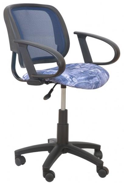Кресло офисное CH-298 спинка темно-серая сетка, подлокотники