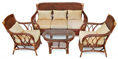 Комплект для отдыха из ротанга Andrea Андреа, коричневый