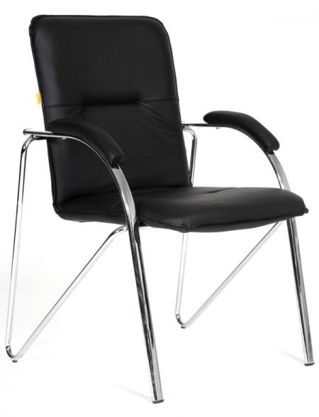 Кресло посетителя CH-850 экокожа черная, Chairman 850