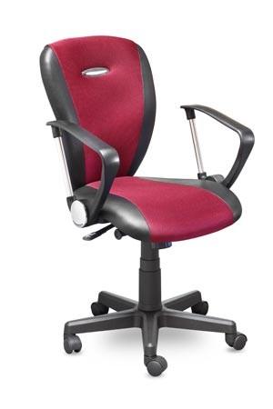Кресло офисное MC-041 Hilton Хилтон ткань черная, экокожа