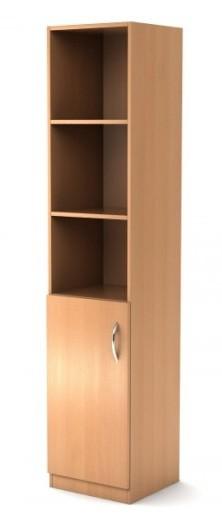 Шкаф узкий полуоткрытый Simple Симпл легно светлый