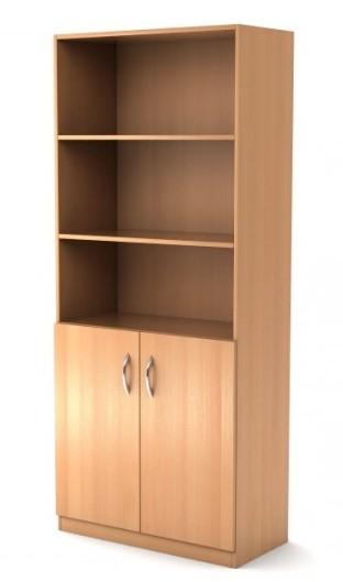 Шкаф широкий полуоткрытый Simple Симпл легно светлый